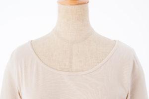 肌に優しい綿100%インナー 衿ぐり 伸びない